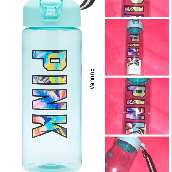 Victoria/'s Secret PINK Collegiate Water Bottle Thermos Tropical Print 32oz